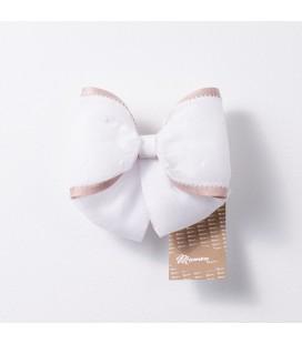 Lazo pequeño blanco y rosa para primera comunión