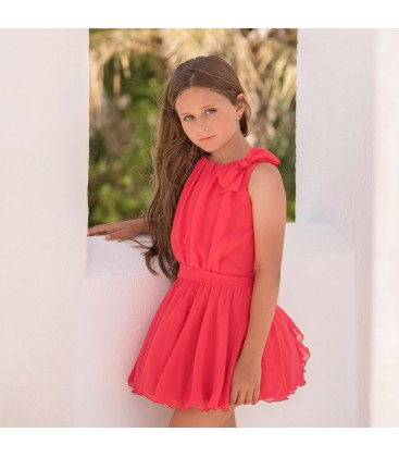 Mimilu Kids - Vestido coral para niña