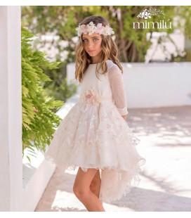 Mimilu Kids - Vestido tul bordado para niña