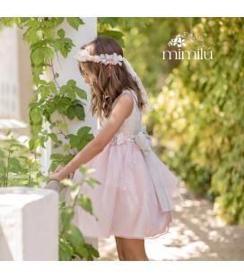 Mimilu Kids - Vestido ceremonia bicolor para niña