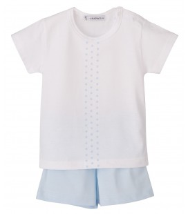 Calamaro - Pijama Cometa celeste para bebé