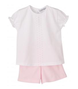 Calamaro - Pijama Cometa rosa para bebé niña