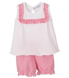 Calamaro - Pijama Nido rosa para bebé niña