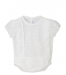 Calamaro - Body Aruba blanco para bebé