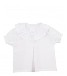 Calamaro - Camisa plumetilla blanca para bebé