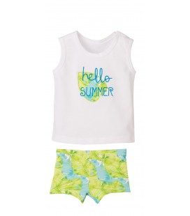 Calamaro - Conjunto baño boxer Tropical para bebé