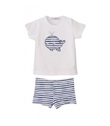 Calamaro - Conjunto baño boxer Marinero para bebé
