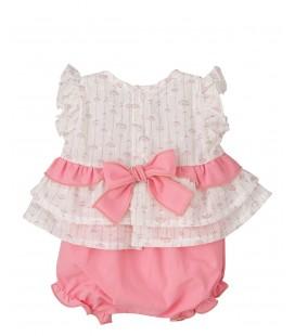 Calamaro - Conjunto Dana rosa para bebé