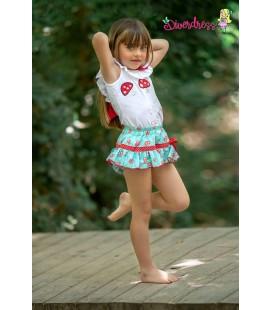 Diverdress - Conjunto bombacho Toad para niña