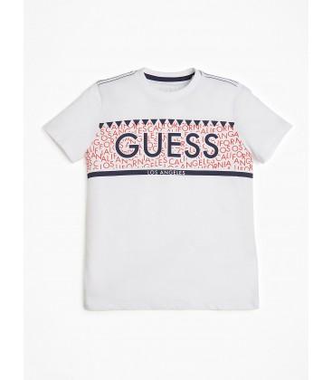 Guess - Camiseta blanca para niño