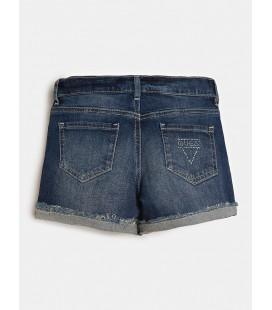 Guess - Shorts vaqueros para niña