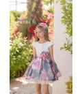 Mimilú Kids - Vestido ceremonia estampado para niña