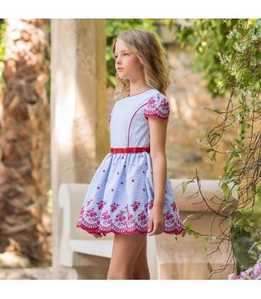 Dolce Aela - Vestido azul para niña