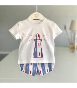 Valentina Bebés - Conjunto camiseta faro y pantalón rayas