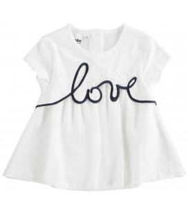 "iDo by Miniconf - Camiseta ""Love"" beige para niña"