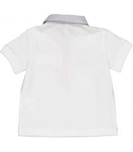 Birba - Polo blanco para bebé