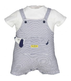 Birba - Pelele rayas marino para bebé