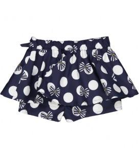 Birba - Shorts marino con lunares para bebé