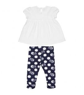 Birba - Conjunto blanco y marino para bebé
