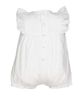 Birba - Pelele blanco para bebé