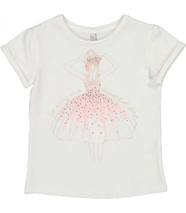Trybeyond - Camiseta beige bailarina para niña