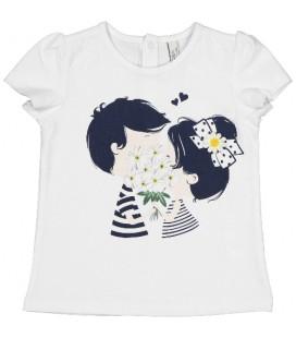 Birba - Camiseta margaritas para bebé