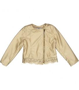 Trybeyond - Chaqueta polipiel dorada para niña