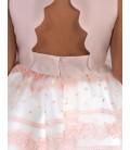 Abel&Lula - Vestido rosa pecherin ondas para niña