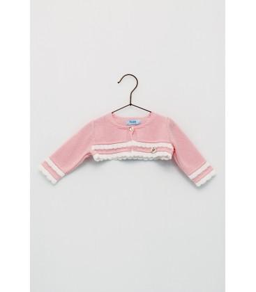 Foque - Chaqueta de punto rosa para bebé