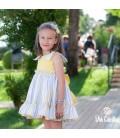 DBB Collection - Vestido amarillo rayas para niña