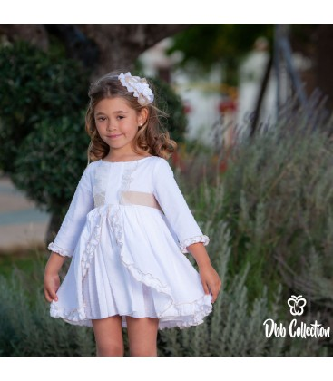 DBB Collection - Vestido blanco para niña