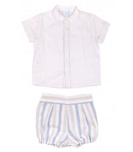 Granlei - Conjunto camisa y bombacho azulina para bebé