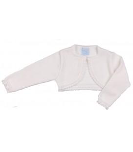 Granlei - Bolero de punto blanco para bebé