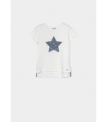 Tiffosi - Camiseta Elaine blanca para niña