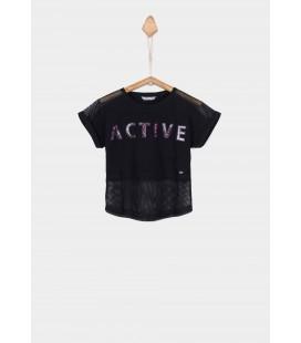 Tiffosi - Camiseta Amal negra para niña