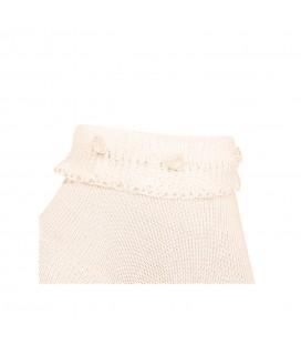 Cóndor - Calcetines tobilleros puño vuelto con flores - Cava