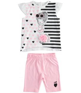 iDo by Miniconf - Conjunto blanco y rosa para niña