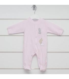 Pelele Estrella rosa para bebé de Calamaro Bebé