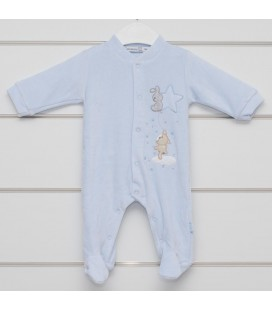 Pelele Estrella celeste para bebé de Calamaro Bebé