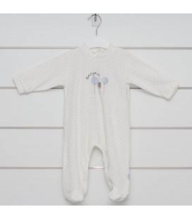 Calamaro - Pelele Globos celeste para bebé