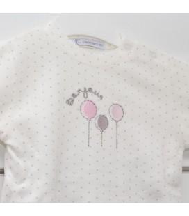 Calamaro - Pijama Globos rosa para bebé