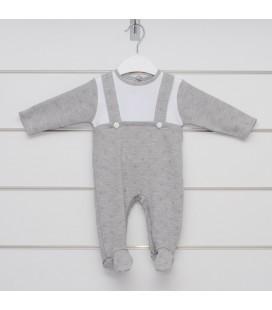 Calamaro - Pelele Moraine gris para bebé