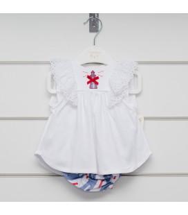 Valentina Bebés - Conjunto encaje faro para bebé