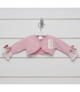 Valentina Bebés - Bolero encaje perlé para bebé