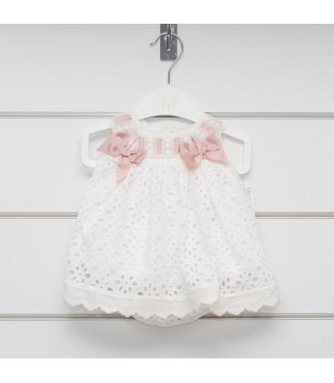 Valentina Bebés - Vestido bordado con lazos