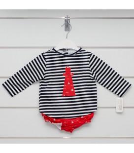 Valentina Bebés - Conjunto faro rojo para bebé