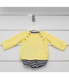Valentina Bebés - Conjunto amarillo con sudadera y pantalón