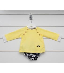 Valentina Bebés - Conjunto volantes amarillo