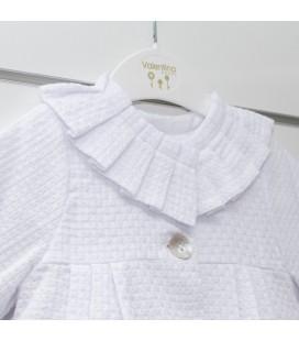 Valentina Bebés - Abrigo pleigues blanco para bebé