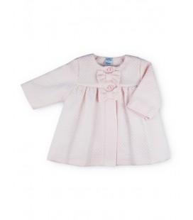 Sardón - Abrigo piqué rosa para bebé